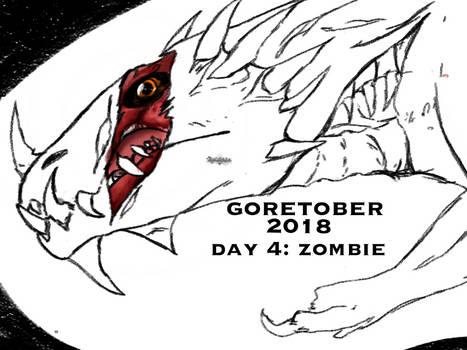 Goretober day 4: zombie
