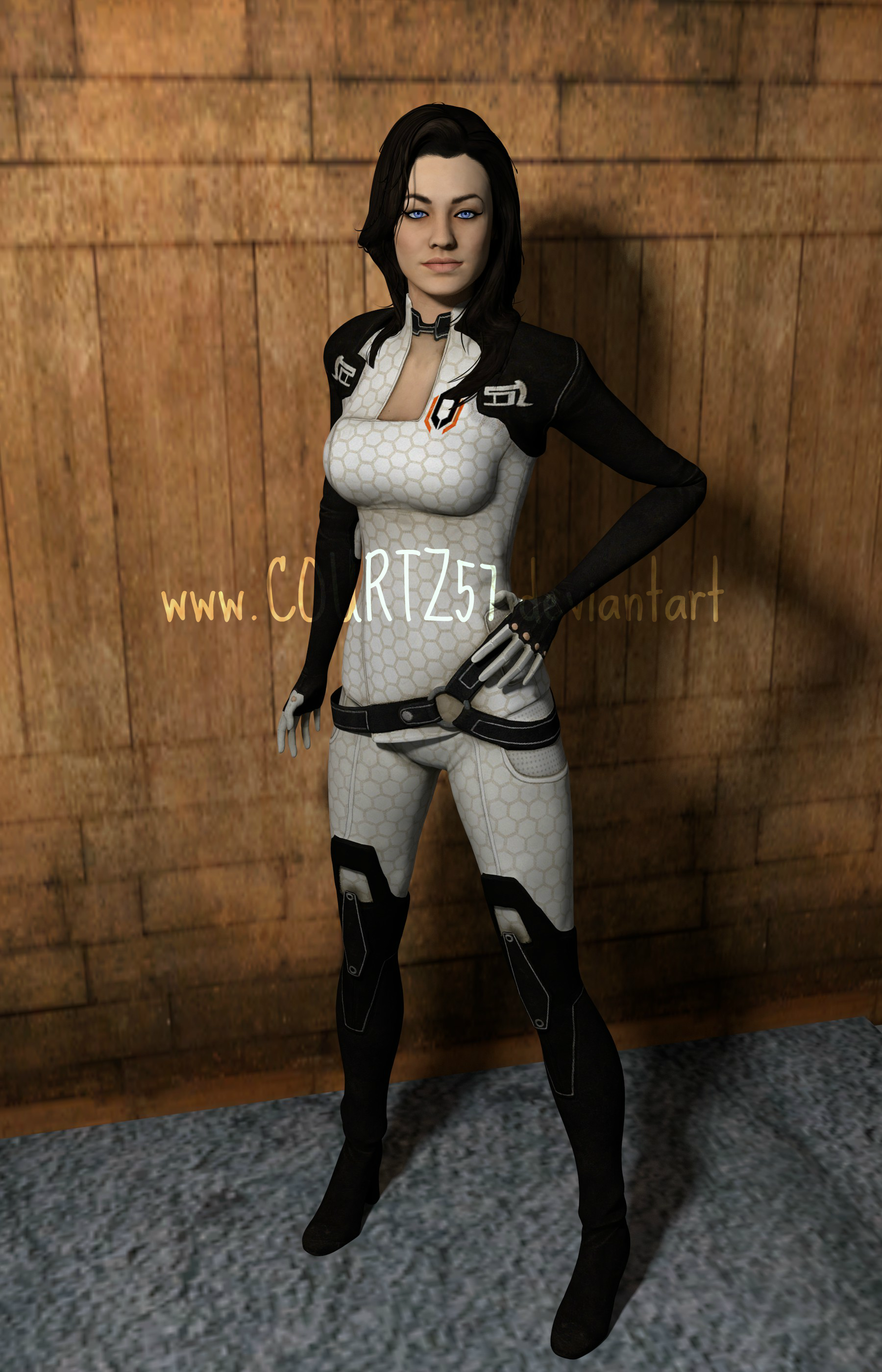 Game Characters render series: Miranda Lawson by COURTZ57