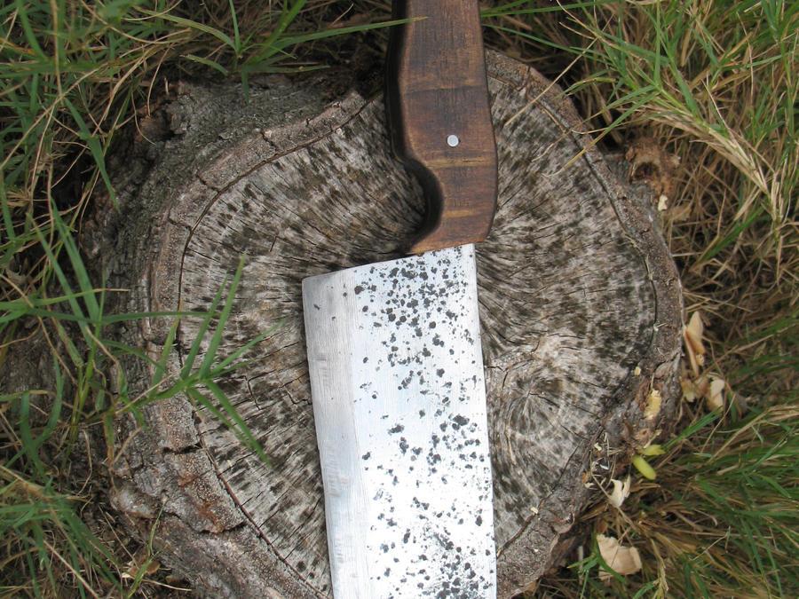 Lawn Mower Blade Knife : Lawnmower blade knife by cowscankill on deviantart