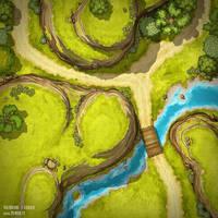 Crossroads in the Wildlands (battlemap 30x30)