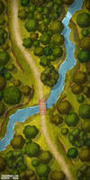 Forest Encounters battlemap 25x50