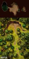 The Secret of the Forest battlemap 25x50