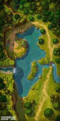 Camp Under the Falls battlemap