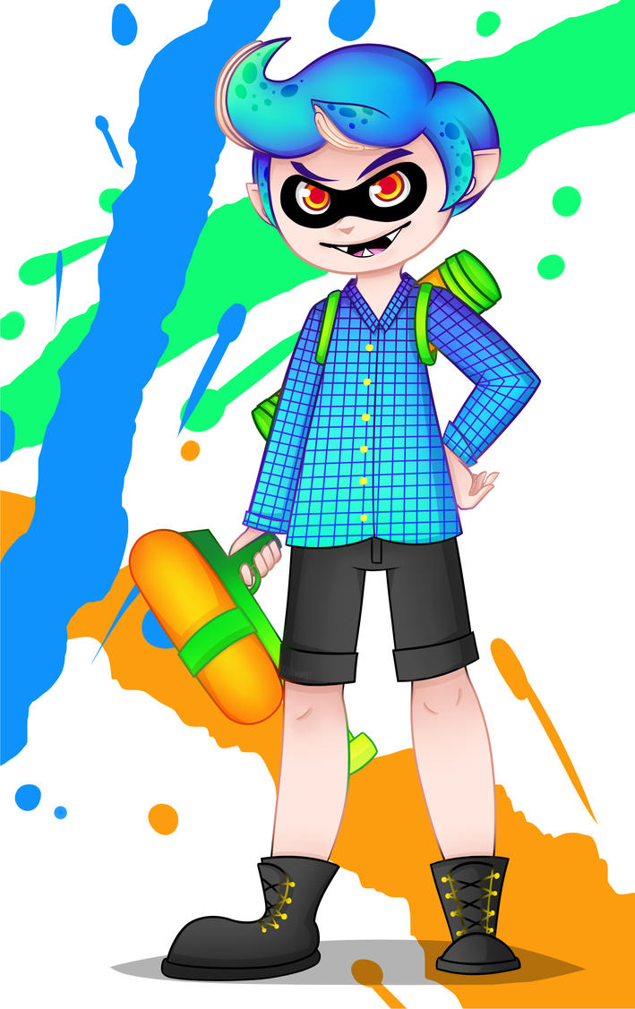 Splatoon- Drawing to Isai 1/2 by Mimny
