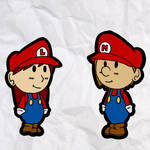 lucahjin and ncs in paper mario style