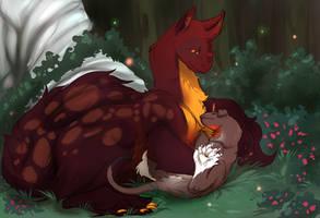 Fluffy cuddles by MaraMastrullo