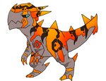 Stray! Primal Deviant Cranidos [UNTAMED] by Miyu-n-Toulouse