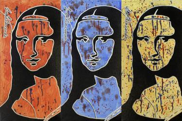 Mona Triptych by Jbaileyrowe