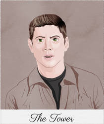 Supernatural Tarot: Dean Winchester, The Tower by MnesomnesTears