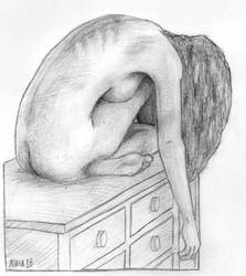 Woman on Dresser by dinobot100