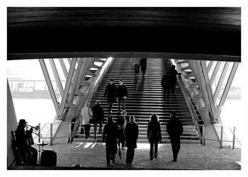 Under the bridge, Seine Paris by fluxuspoem