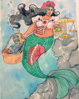 emoji monster girl - mermaid