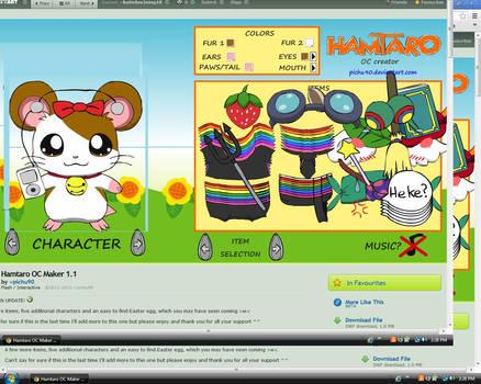 my hamtaro character