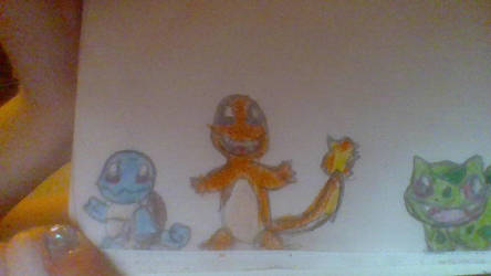 drawing request Bulbasaur,Squirtle,and Charmander