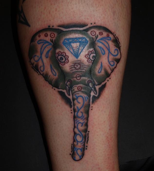 Elephant Sugar Skull by EricScsavnickiTattoo on DeviantArt