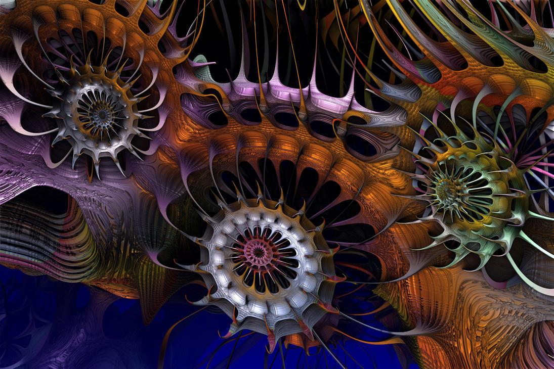 Dragon Flowers Fractillus Prickyfinger by GrahamSym