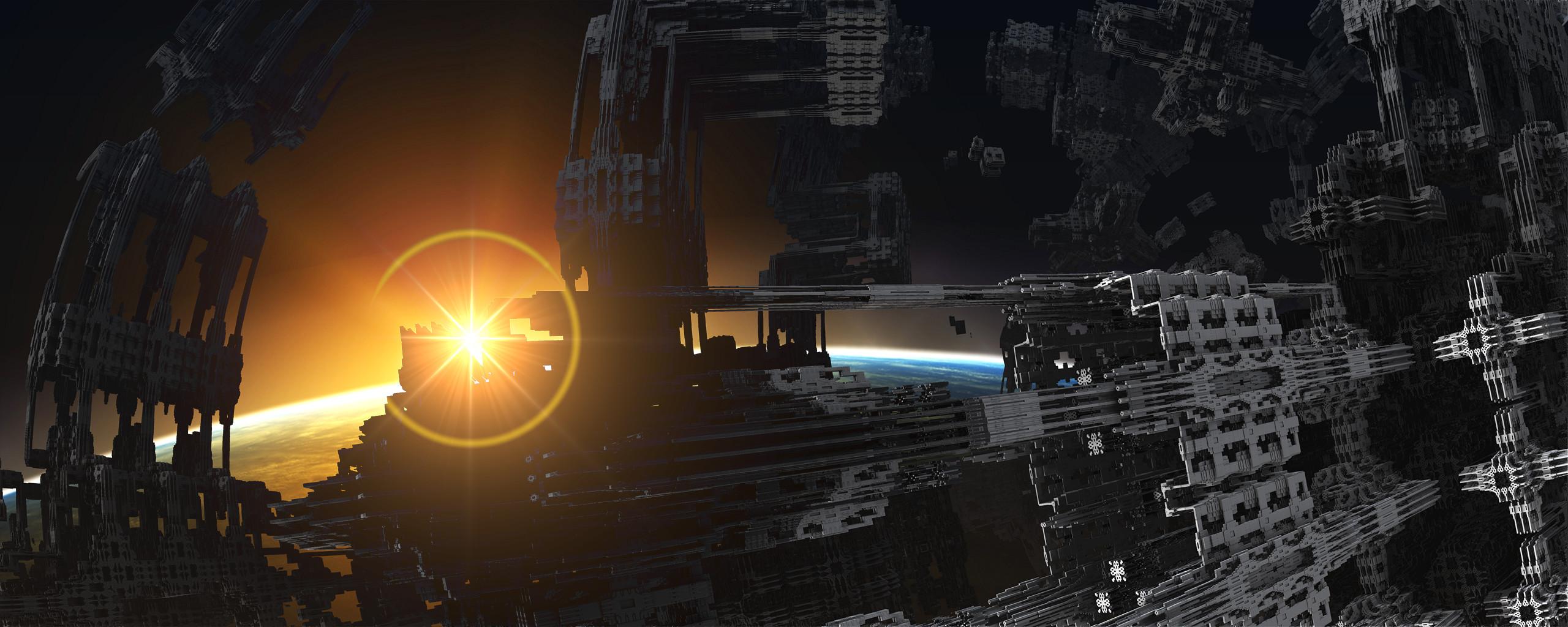 Dual Display Fractal Sci Fi Iii By Grahamsym On Deviantart