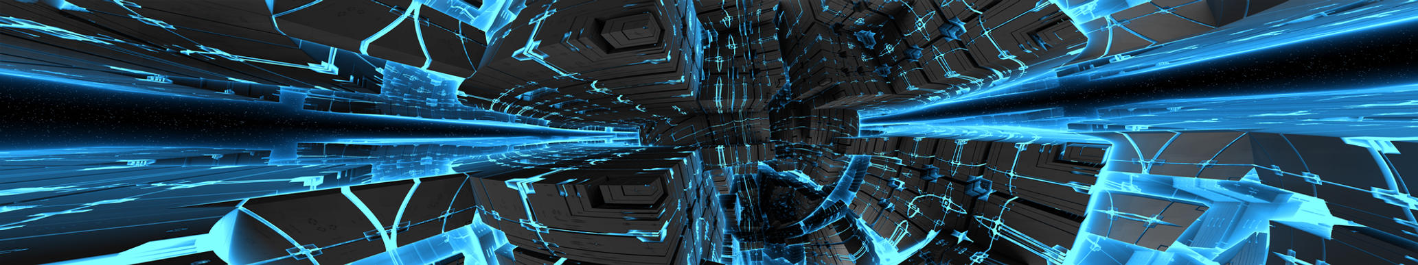 Triple Display Fractal Sci-Fi Large by GrahamSym