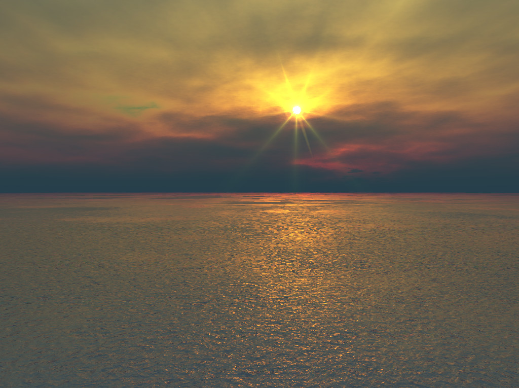 Sunset Over Calm Waters by GrahamSym