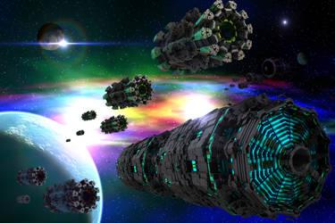 Mandelbulb Invasion Force by GrahamSym