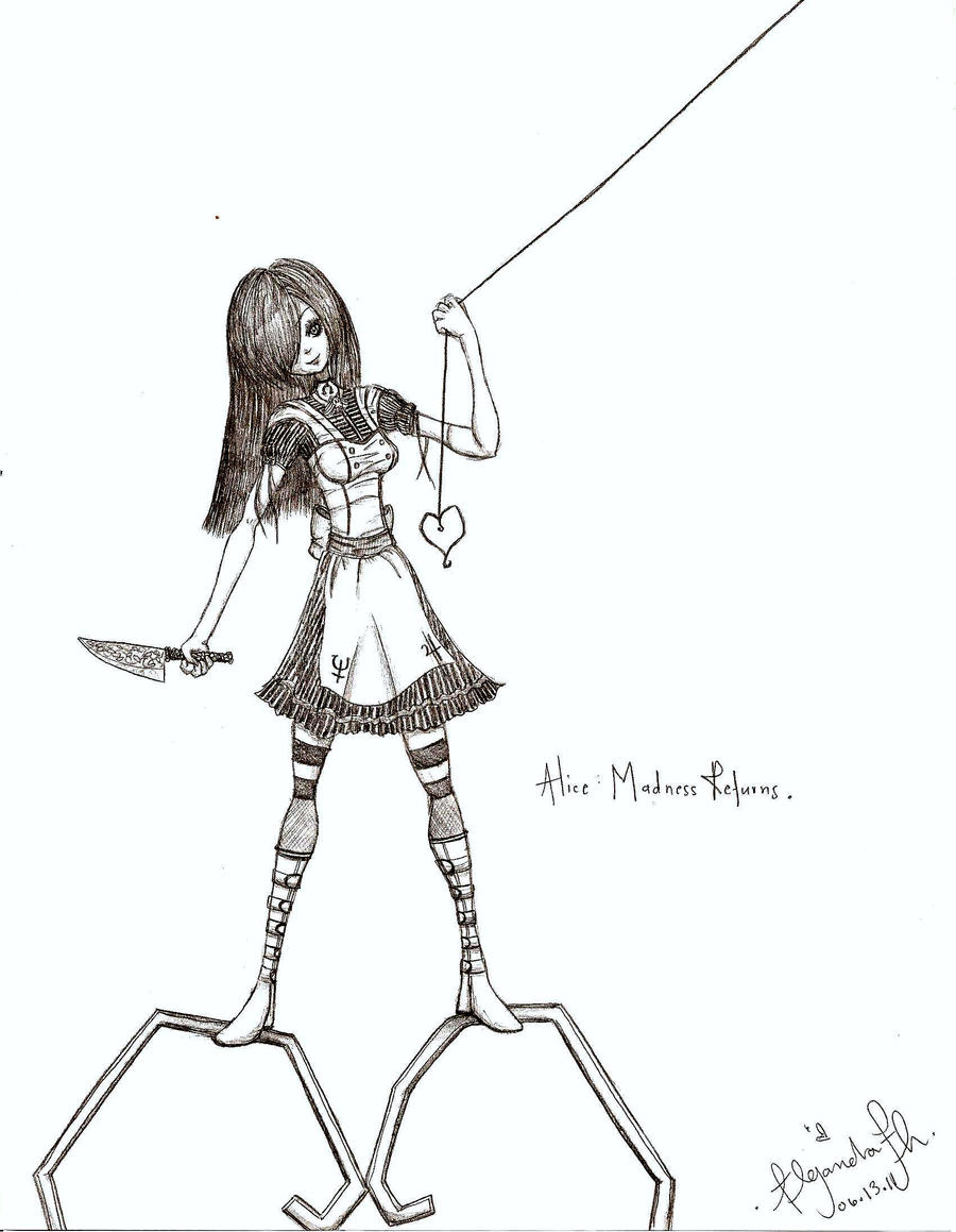 alice in wonderland madness returns drawings of people
