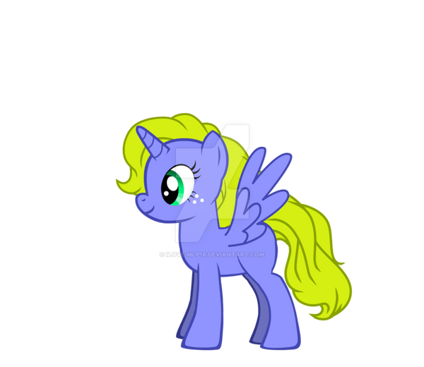 Blond Hair with wings by Ilove-MLP18