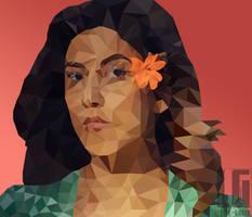 Polygon art of Stephanie Beatriz