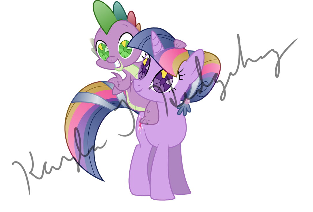 Crystal Empire Twilight and Spike by kaylathehedgehog