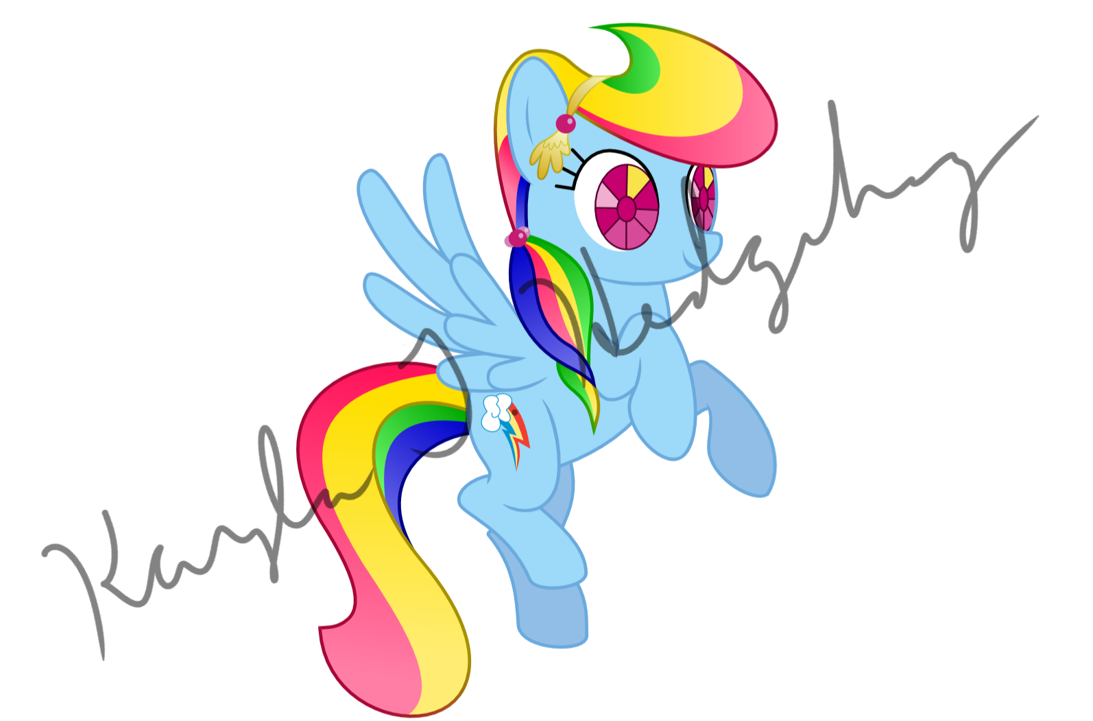 Crystal Empire Rainbow Dash by kaylathehedgehog