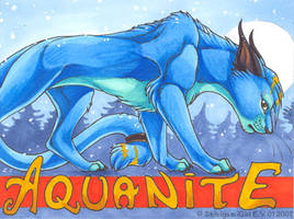 Aquanite's badge by shinigamigirl