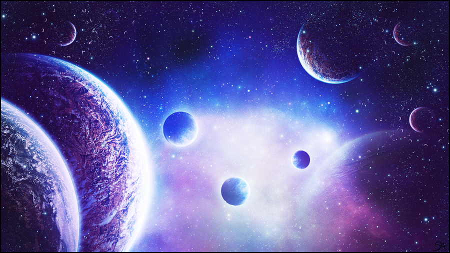 Space Art Wallpaper By VoidSilentAssasin
