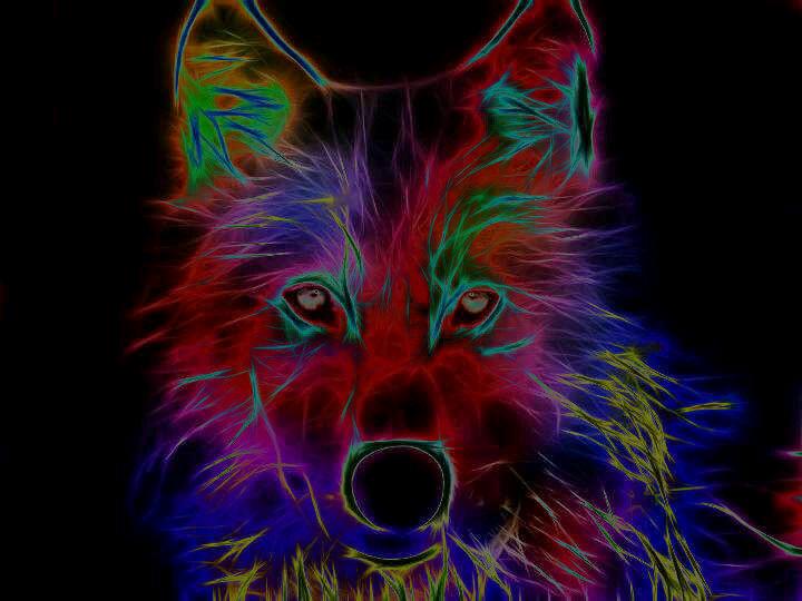 Neon Wolf By L0n3lyW0lf1996