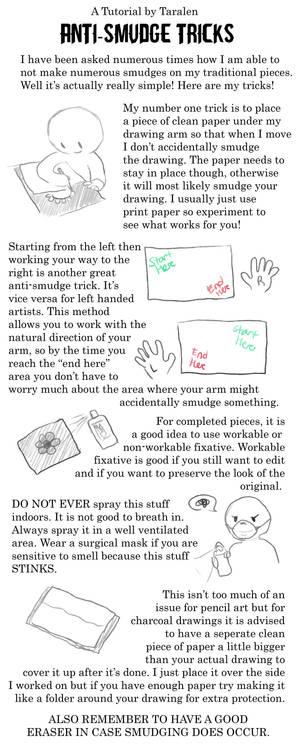 TUTORIAL: Anti-Smudge Tricks
