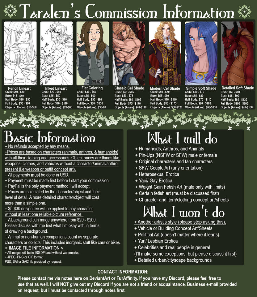 Commission Information CLOSED