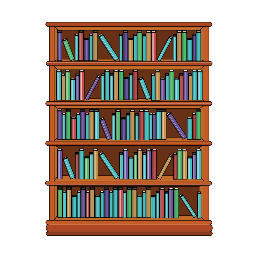 Bookshelf With Books By MahuaSarkar On DeviantArt