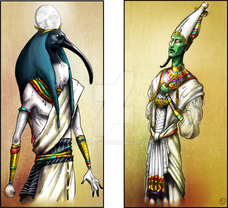 Thot and Osiris by Emilie-W on DeviantArt