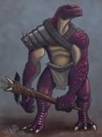 Purple Lizardman Savage by umbrafox