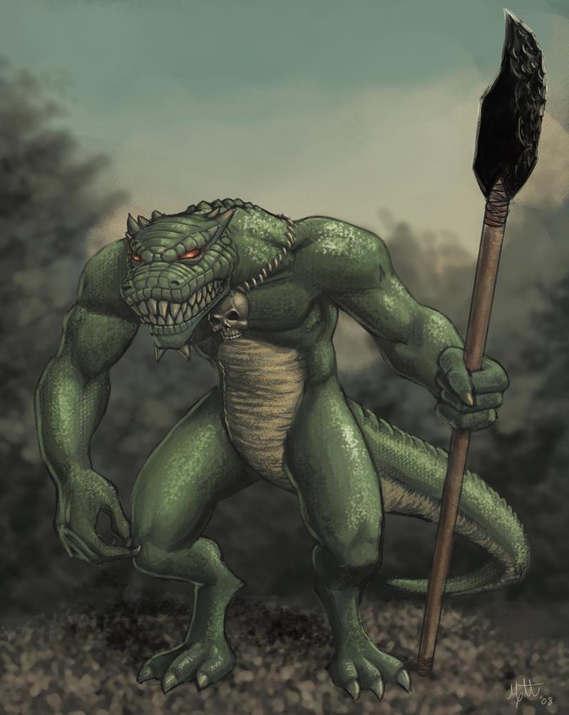 Another Lizardman by umbrafox