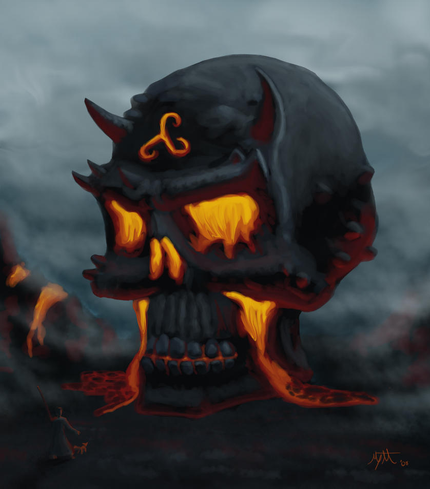 Lava Skull by umbrafox