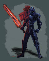 Black Knight Concept by umbrafox