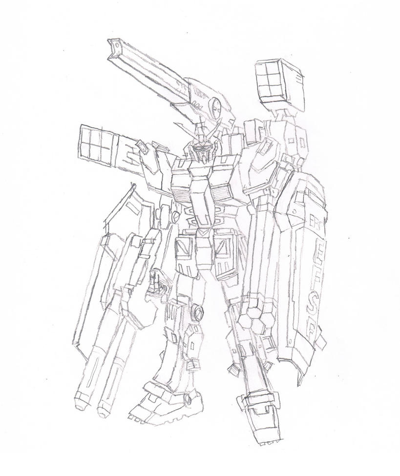 FA-78 Full Armor Gundam Thunderbolt Version by granturismomh