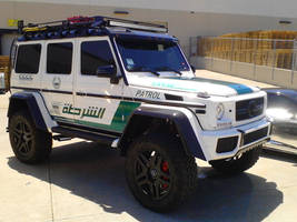 Brabus G65 AMG Dubai Police Force Exoitc SUV by granturismomh