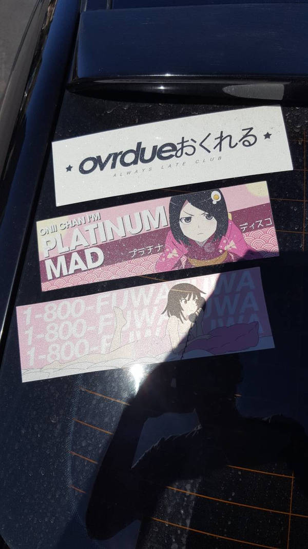 Itasha Stickers by granturismomh