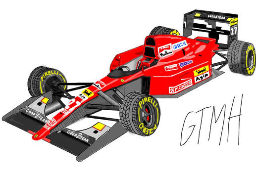 Ferrari 643 Formula One #27 Car A. Prost
