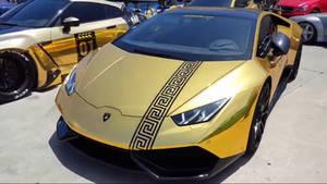 Lamborghini Huracan Gold Chrome