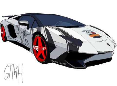 Lamborghini Aventator Super Veloce SV Illustration