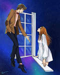 11th Doctor and Amy Pond by Rukinda