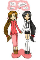 Aeris n Tifa Valentines by Mrs-CloudStrife