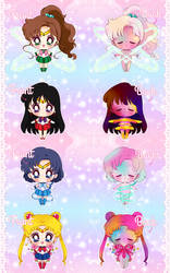 Sailor Moon Transformation Charms!