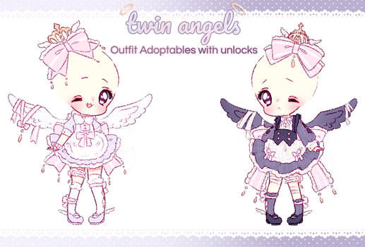 $1SB Twin Angel Outfit Adopts: OPEN